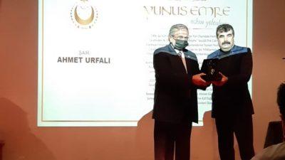 Ahmet Urfalı'ya Yunus Emre Şiir Ödülü