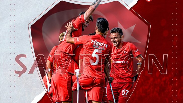 AmputeFutbol Milli Takımı, üst üste 2. kez şampiyon oldu